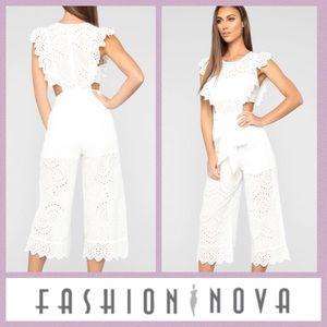 Fashion Nova Eyelet Jumpsuit